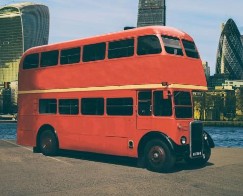 autobús de dos pisos leyland inglés