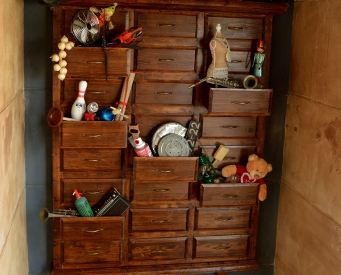 Armario de madera para pared