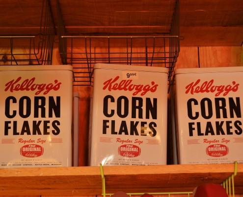 Latas de cereales Corn Flakes
