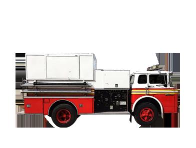 camión de bomberos Hendrickson