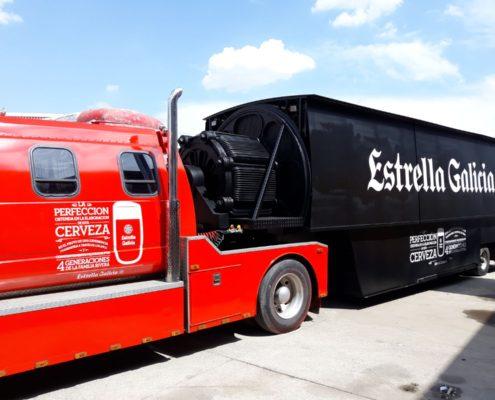 camion cervecero estrella galicia