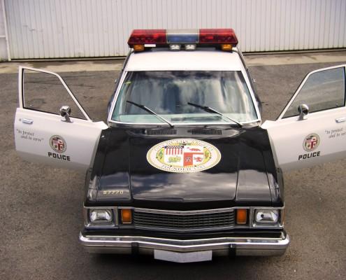 coche de policia plymouth de 1980