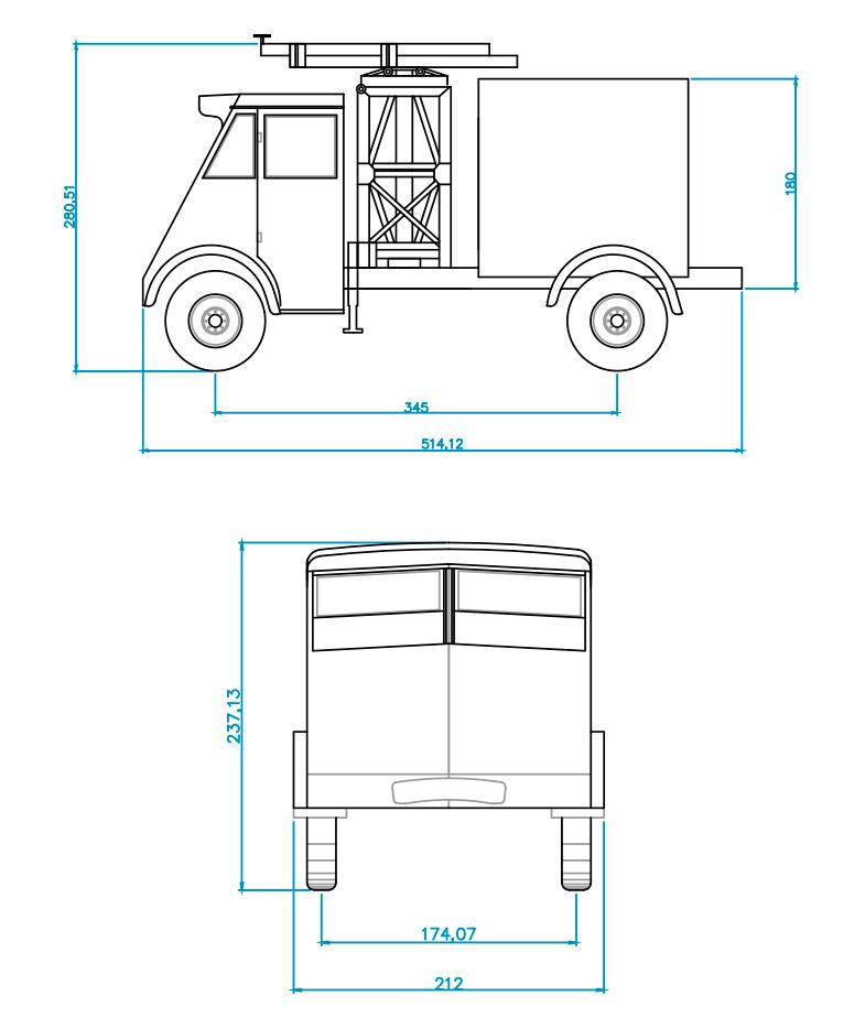 camión elevador renault