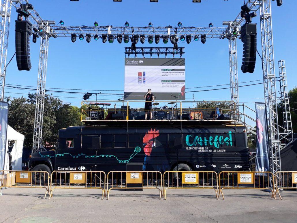 Autobús escenario para Carrefest